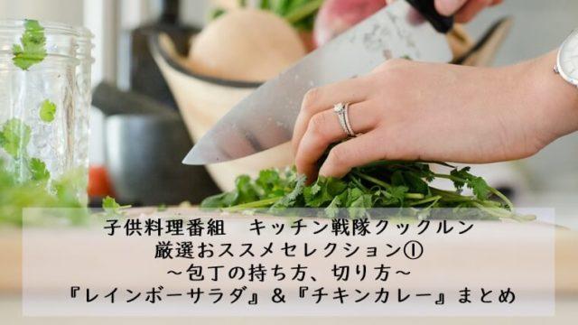 包丁の持ち方 切り方 レインボーサラダ